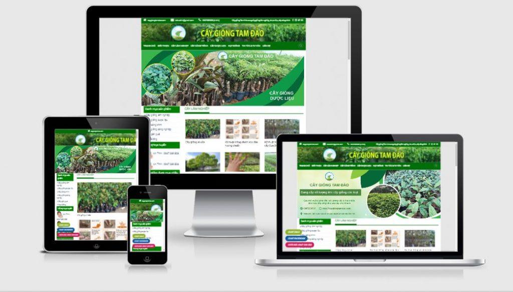 Thiết kế website kinh doanh cây giống Tam Đảo 1