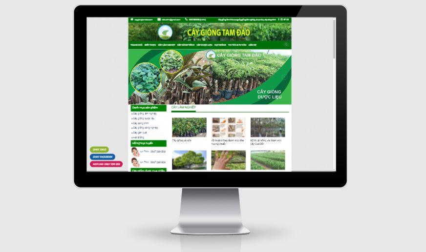 Thiết kế website kinh doanh cây giống Tam Đảo 2