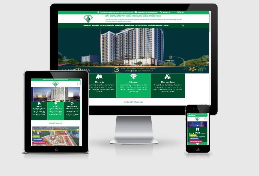 Thiết kế website bất động sản Vĩnh Phúc 2