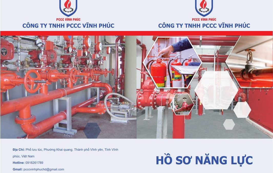 Thiết kế hồ sơ năng lực cho công ty phòng cháy chữa cháy