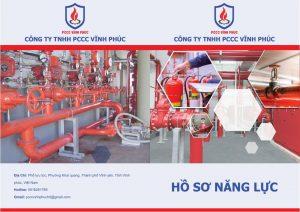Thiết kế hồ sơ năng lực cho công ty phòng cháy chữa cháy 1