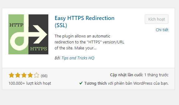 Chuyển http sang https bằng plugin Easy HTTPS (SSL) Redirection