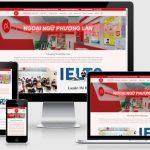 Thiết kế web trung tâm ngoại ngữ Phương Lan Vĩnh Phúc