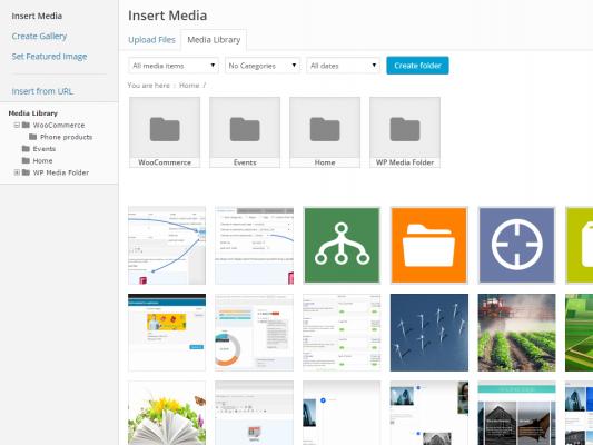 Quản lý file trên WordPress Plugin WP Media Folders