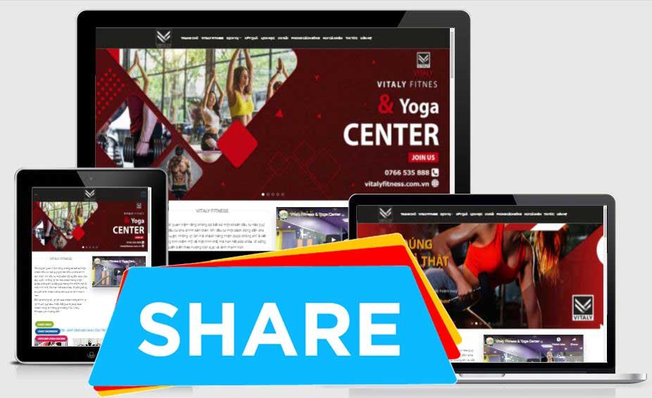 Share Full code website trung tâm tập GYM, Yoga